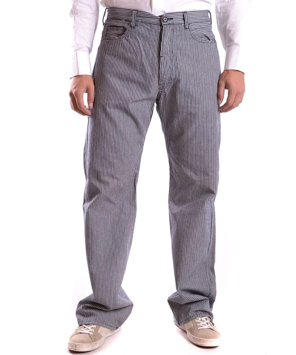 Yohji Yamamoto Men's  Blue Cotton Jeans