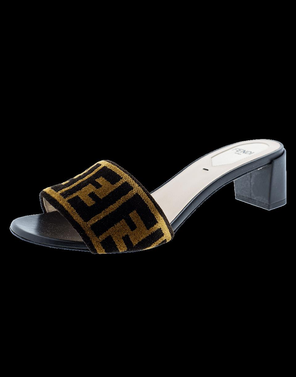 c73552a1a2f0 Fendi Logo Mule Slide In Black