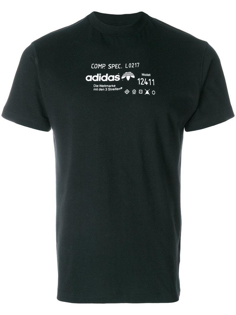 Adidas Originals By Alexander Wang Adidas By Alexander Wang Women's Black Graphic T-Shirt