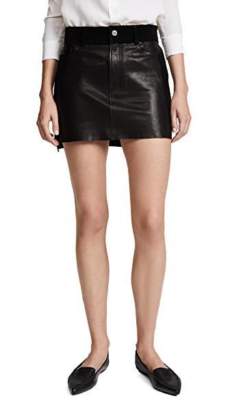 Frame Mix Skirt In Noir