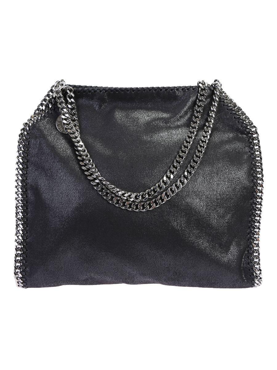 Stella Mccartney Faux Leather Falabella Small Tote In Black
