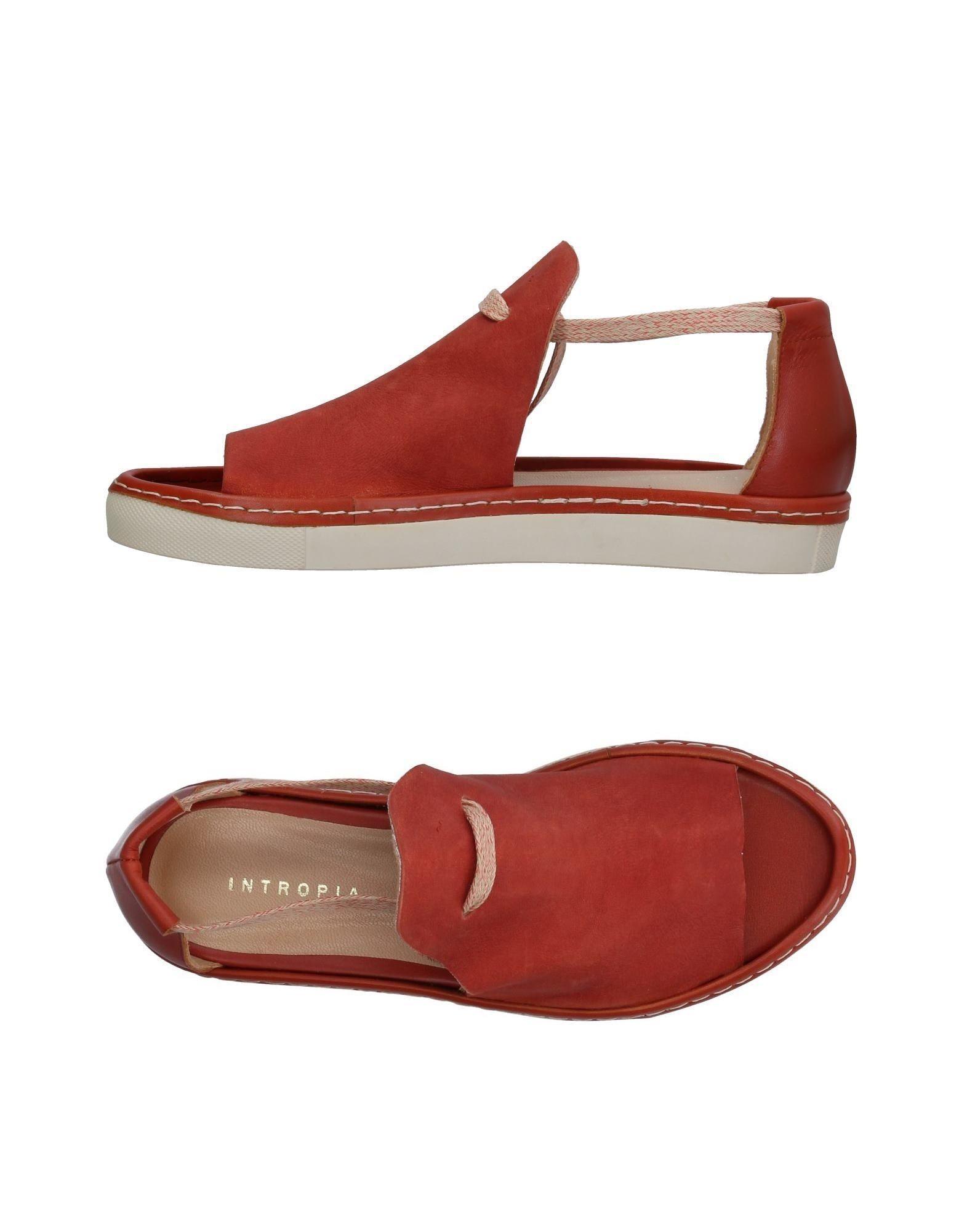 Intropia Sandals In Brick Red
