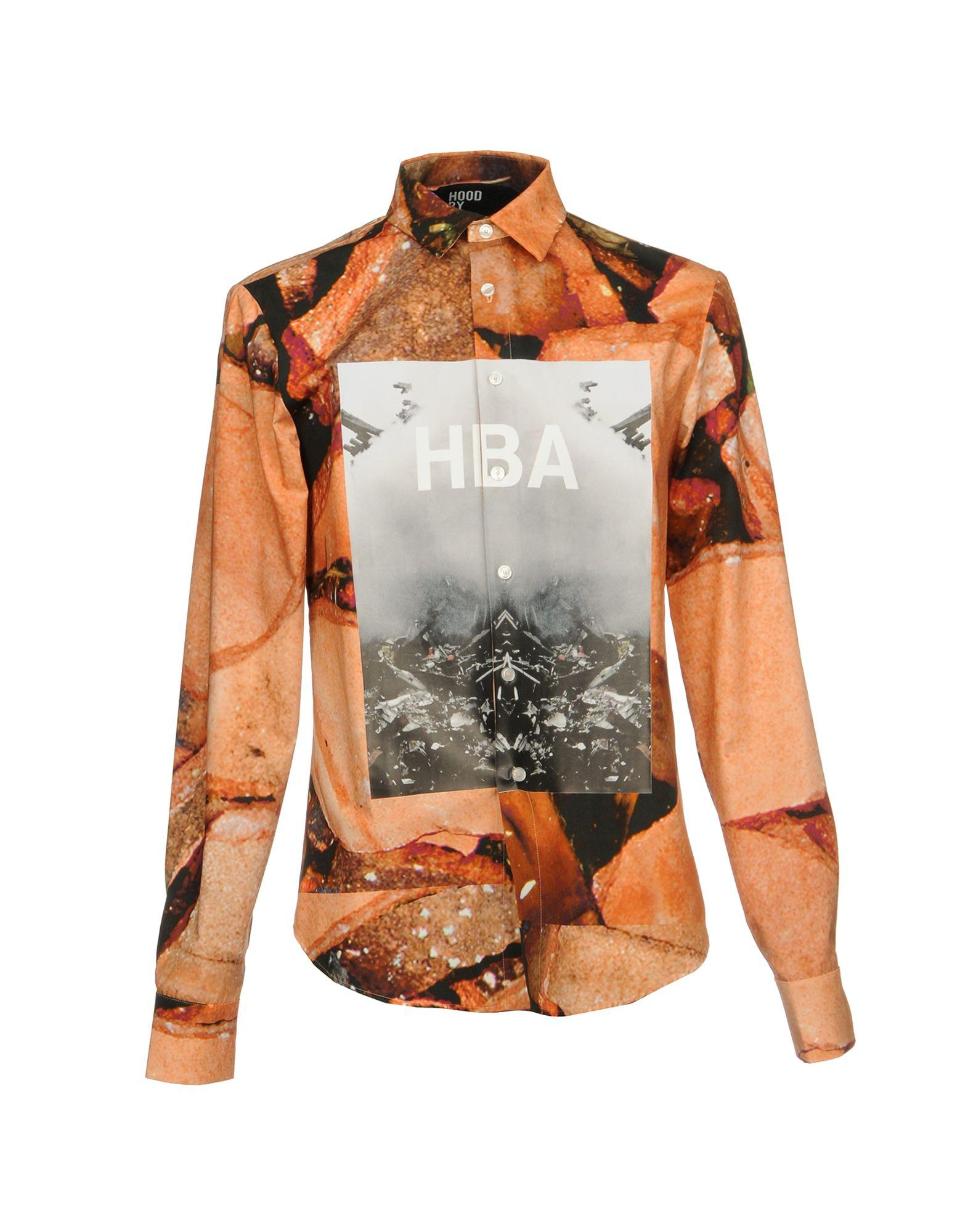 Hood By Air Patterned Shirt In Salmon Pink
