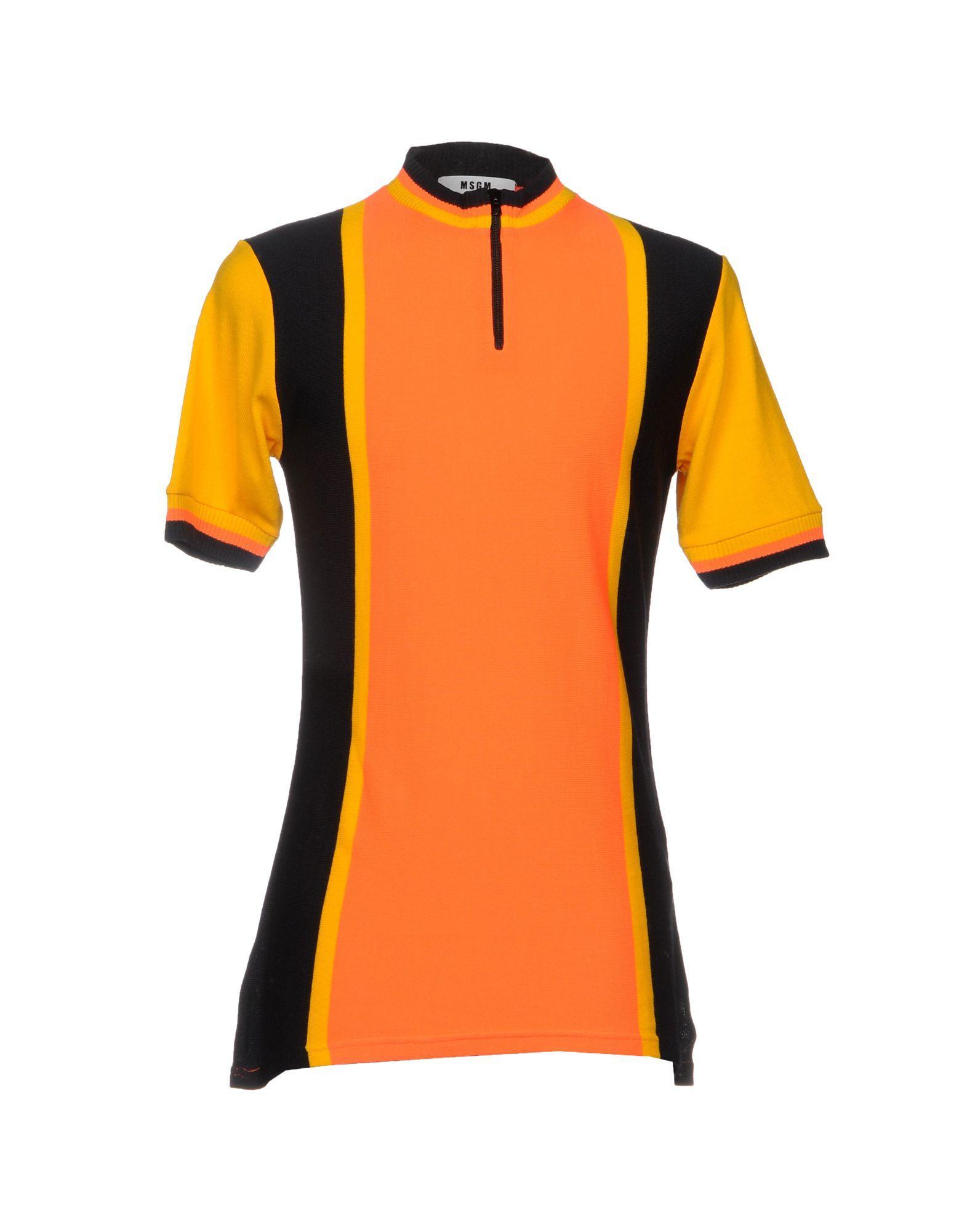 Msgm Sweater In Orange