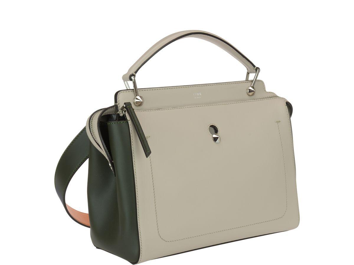 a64b9e4ae43e Fendi Dotcom Bag In Grey Powder-Green Grass-Pallad