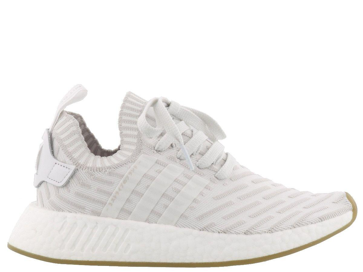 7b27b97664c0 Adidas Originals Nmd R2 Leather-Trimmed Primeknit Sneakers In White ...