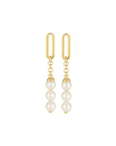 Majorica 6Mm Organic Organic Pearl Linear Drop Earrings In White