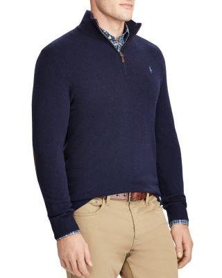 c8d7483e0 Polo Ralph Lauren Merino Wool Half-Zip Sweater In Hunter Navy