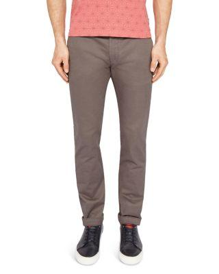 Ted Baker Procor Slim Fit Chinos In Charcoal