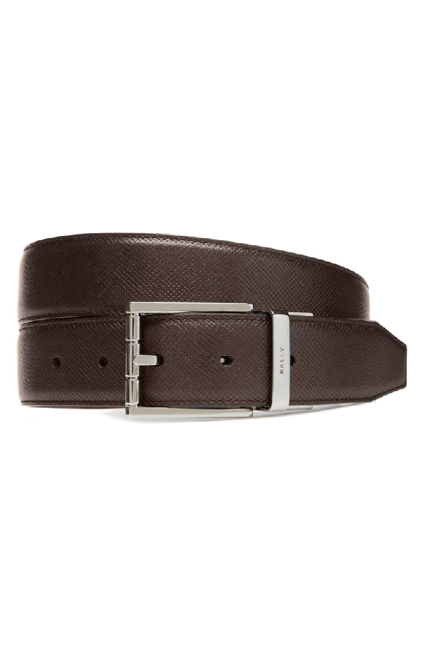 Bally Astor Reversible Leather Belt, Brown In Coffee
