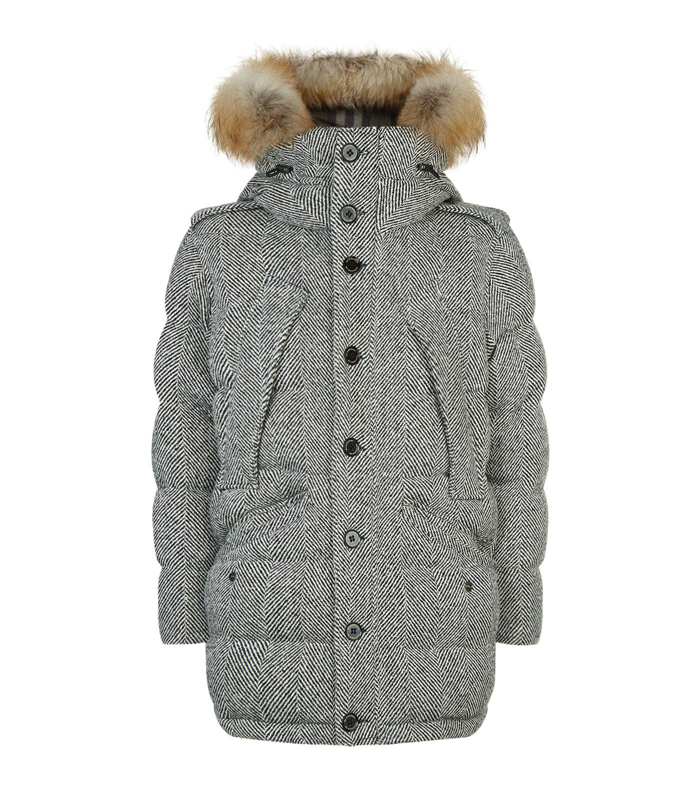 8f99ddc3d5fc Burberry Detachable Fur Trim Hooded Down-Filled Cashmere Parka In ...