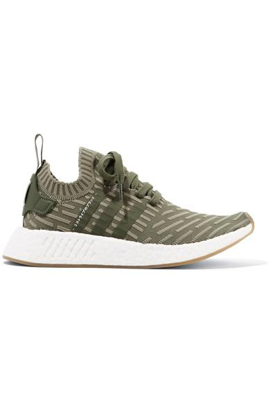 a723be34c965d Adidas Originals Nmd R2 Primeknit Sneakers - Olive In Army Green ...
