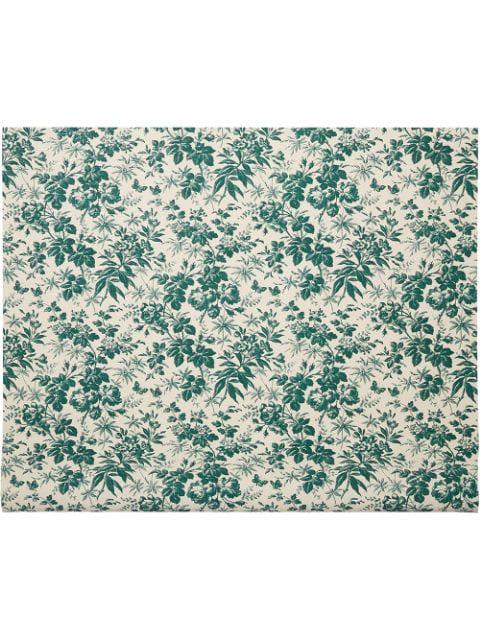 Gucci Herbarium Print Wallpaper In Emerald Green Herbarium