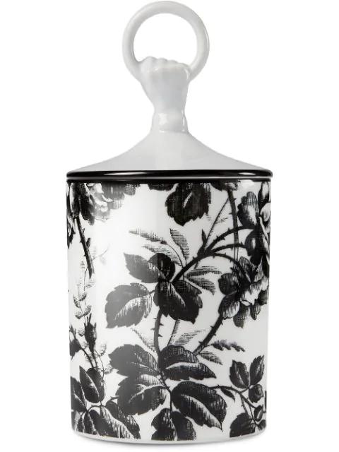 Gucci Inventum, Medium Herbarium Hand And Ring Candle In White ,black