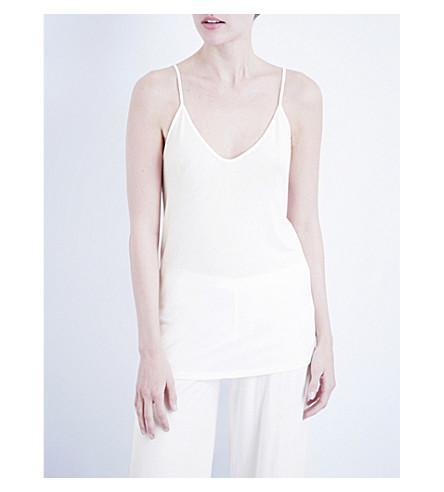 Skin Sexy Pima-Cotton Jersey Camisole In White