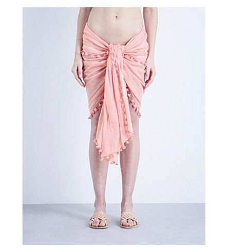 5534be6a0e4f48 Melissa Odabash Pareo Cotton And Silk-Blend Sarong In Rose | ModeSens