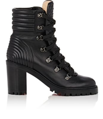 7410f3ad48b Christian Louboutin Mad 70 Spiked Quilted Leather Ankle Boots In Black