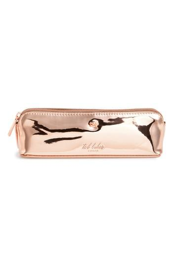 low priced 66bfe 0aed8 Leanora Mirrored Pencil Case - Pink in Rose Gold