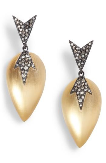 Alexis Bittar Lucite Drop Earrings In Gold