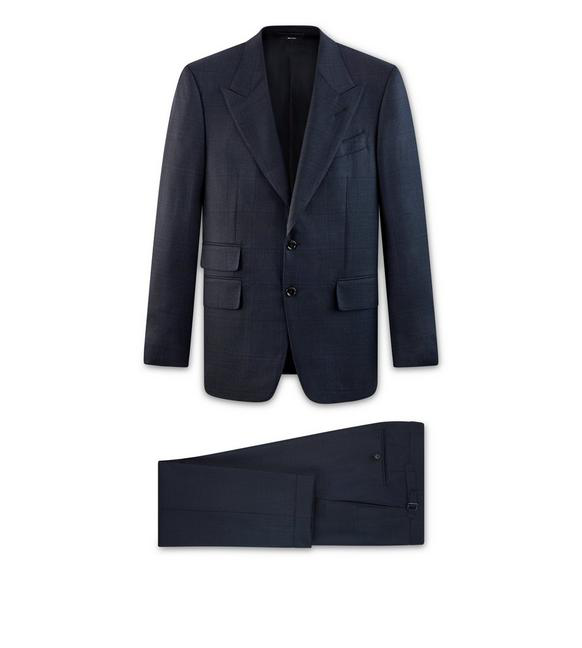 Tom Ford Men's Shelton Base Wool-Silk Two-Piece Suit In Blue