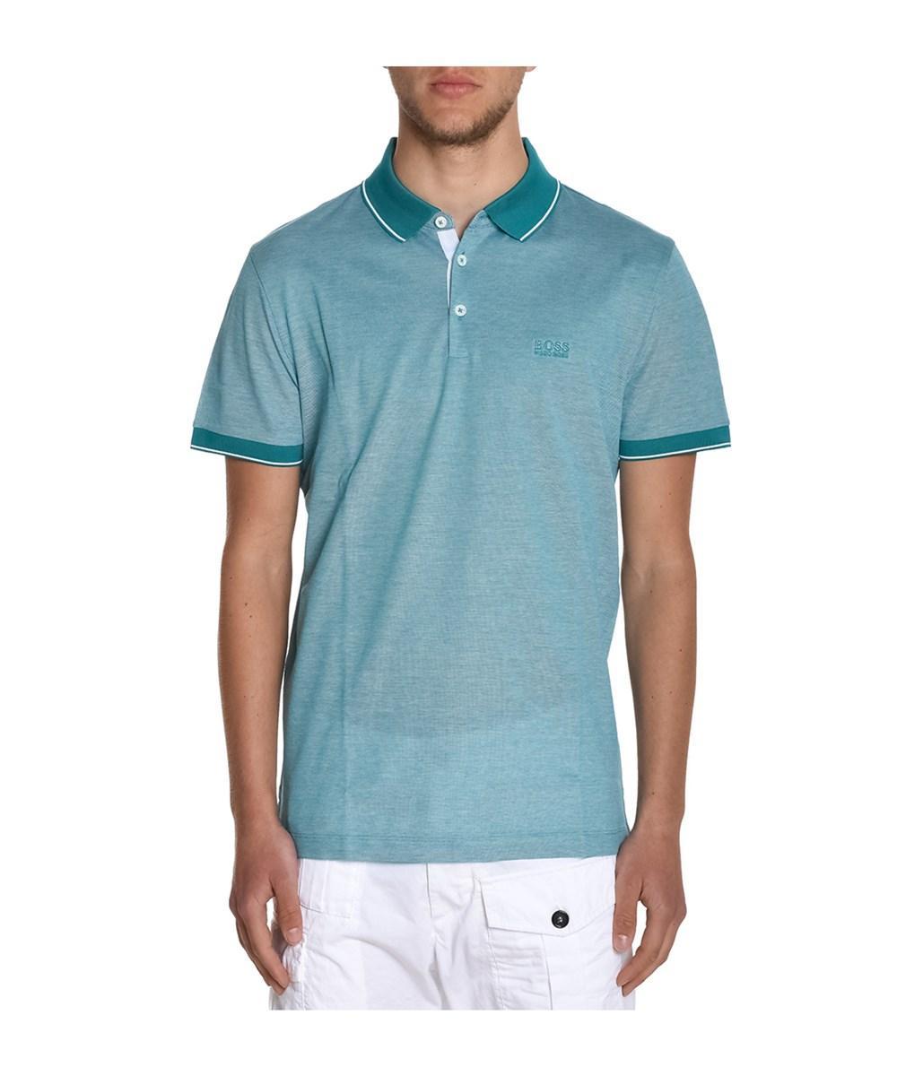 7ffff3e7a Hugo Boss Men's Light Blue Cotton Polo Shirt | ModeSens