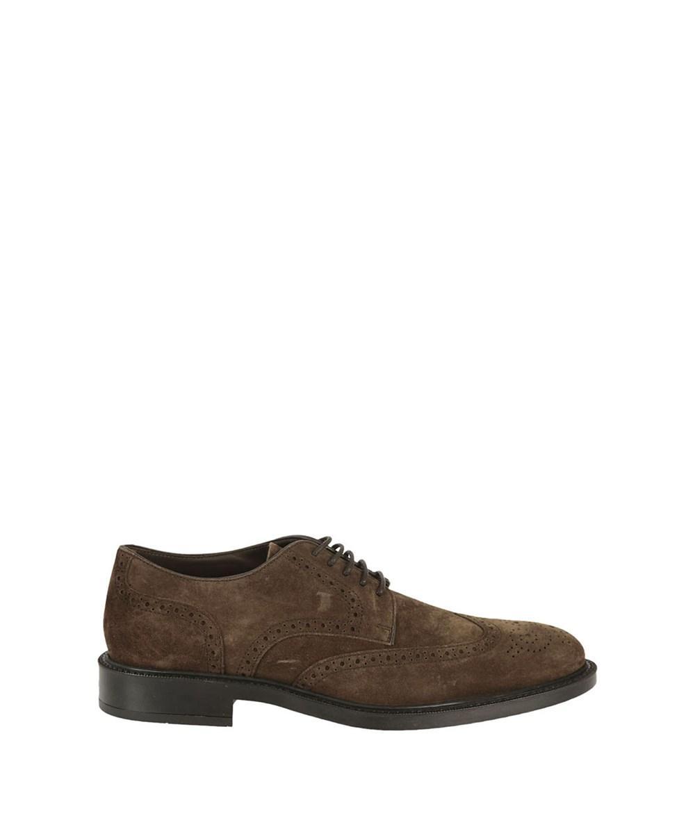 Tod's Men's  Brown Suede Lace-Up Shoes