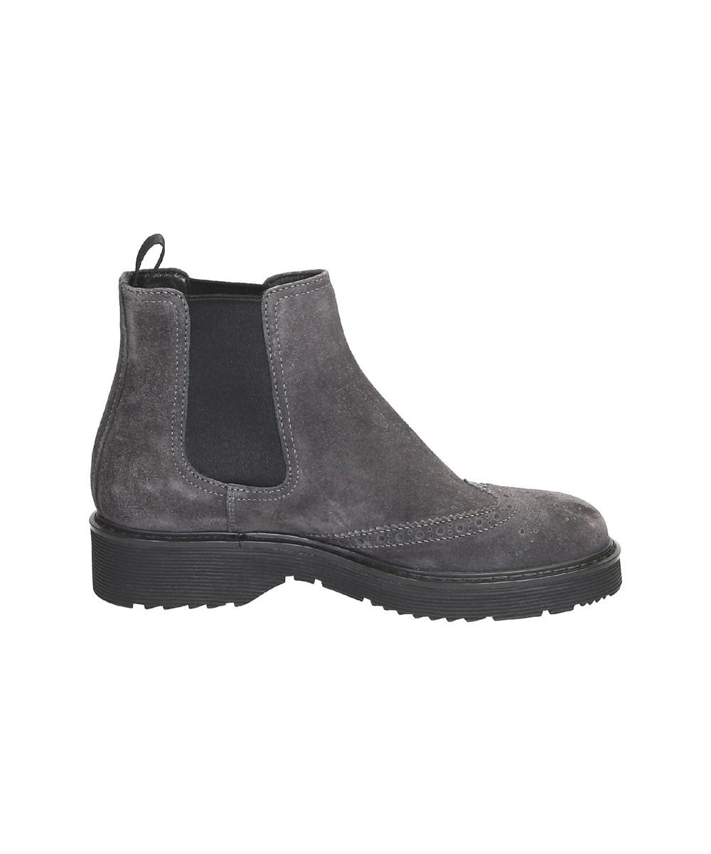 factory price official supplier new design Prada Women's Grey Suede Ankle Boots