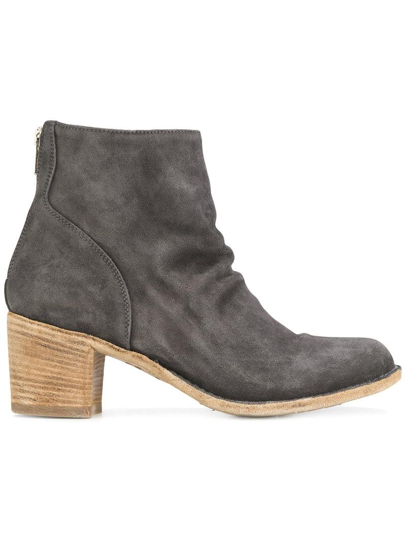 Officine Creative Brushed Ankle Boots In Grey