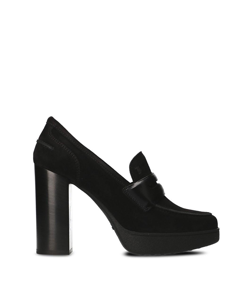 Tod's Women's  Black Suede Heels