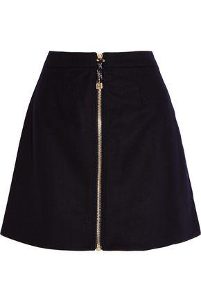 Acne Studios Woman Prisca Wool-blend Twill Mini Skirt Midnight Blue