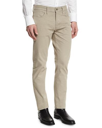 Tom Ford Straight-Fit Solid Wash Stretch Denim Jeans, Tan