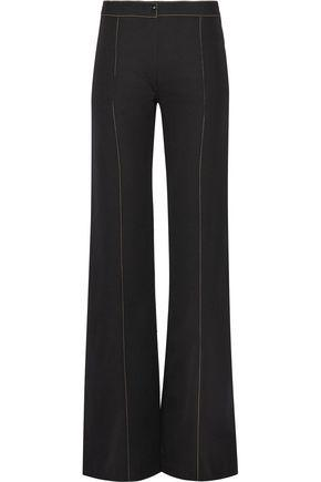 Lemaire Woman Wool-Gabardine Flared Pants Black