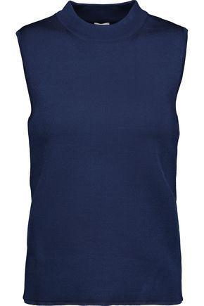 M Missoni Woman Stretch-Knit Top Midnight Blue