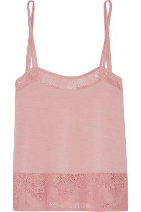 Skin Woman Lace-trimmed Stretch-jersey Camisole Antique Rose