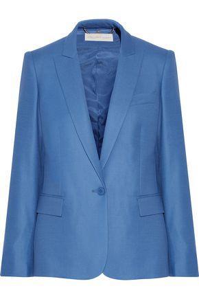 Stella Mccartney Ingrid Wool-piqué Blazer In Azure