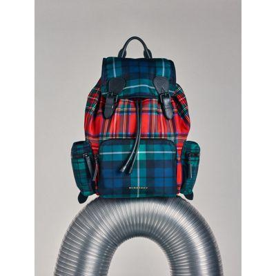 819e686eb Burberry The Large Rucksack In Patchwork Tartan In Military Red ...