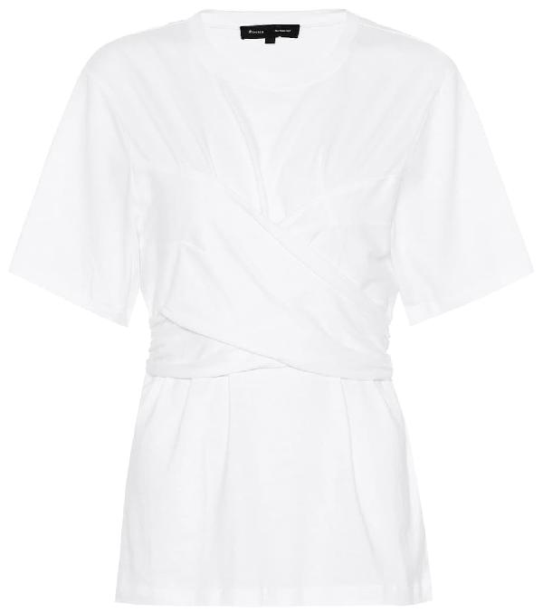 52205ca83 Proenza Schouler Wrap-Style Cotton-Jersey T-Shirt In White | ModeSens