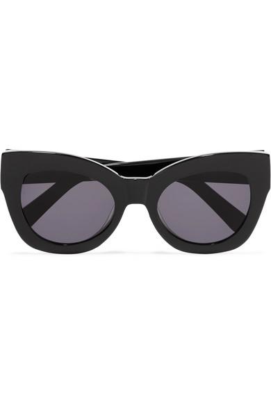 f32bba56fc4 Karen Walker Northern Lights Cat-Eye Acetate Sunglasses In Black ...