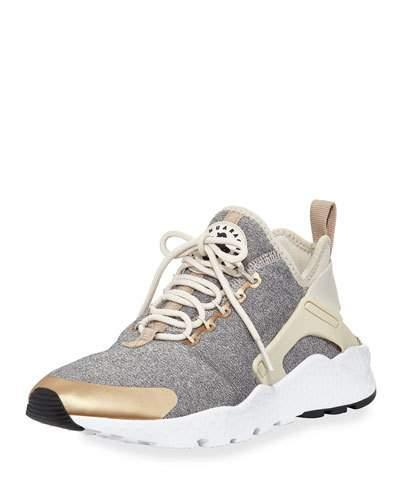 new concept 921ed 4efaa Nike Women s Air Huarache Run Ultra Se Running Sneakers From Finish Line In  Lt Brown Blue