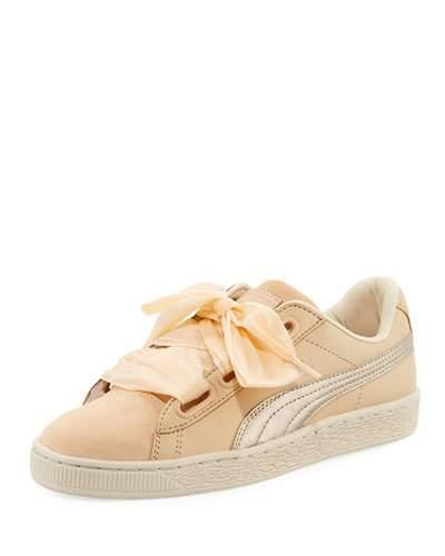 34c7f762aded Puma Women s Basket Heart Bauble Leather   Suede Lace Up Sneakers In ...