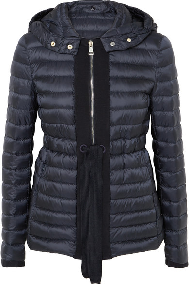 3fc3080f6 Grosgrain-Trimmed Quilted Shell Down Jacket in Navy