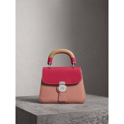 d8a648225e2d Burberry The Medium Dk88 Top Handle Bag With Geometric Print In Ash  Rose Russet