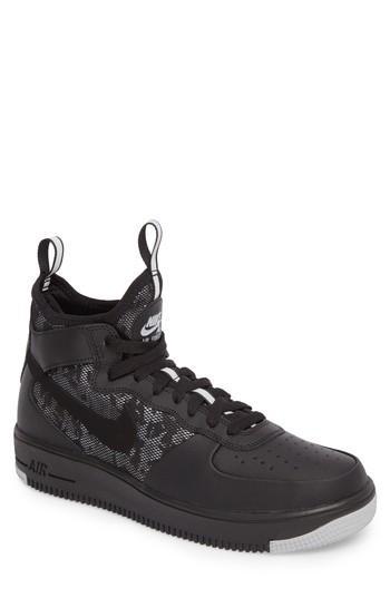 ca55c2e732de7 Nike Air Force 1 Ultraforce Mid Sneaker In Black/Wolf Grey/White ...