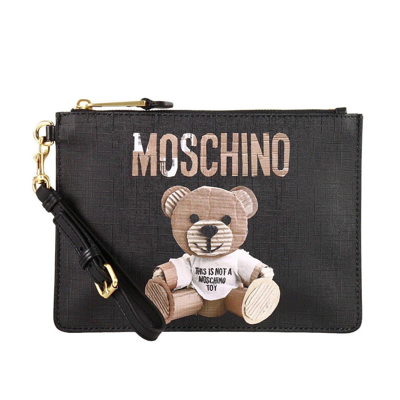e573eb3c67b79 Moschino Clutch Shoulder Bag Women Couture In Black | ModeSens