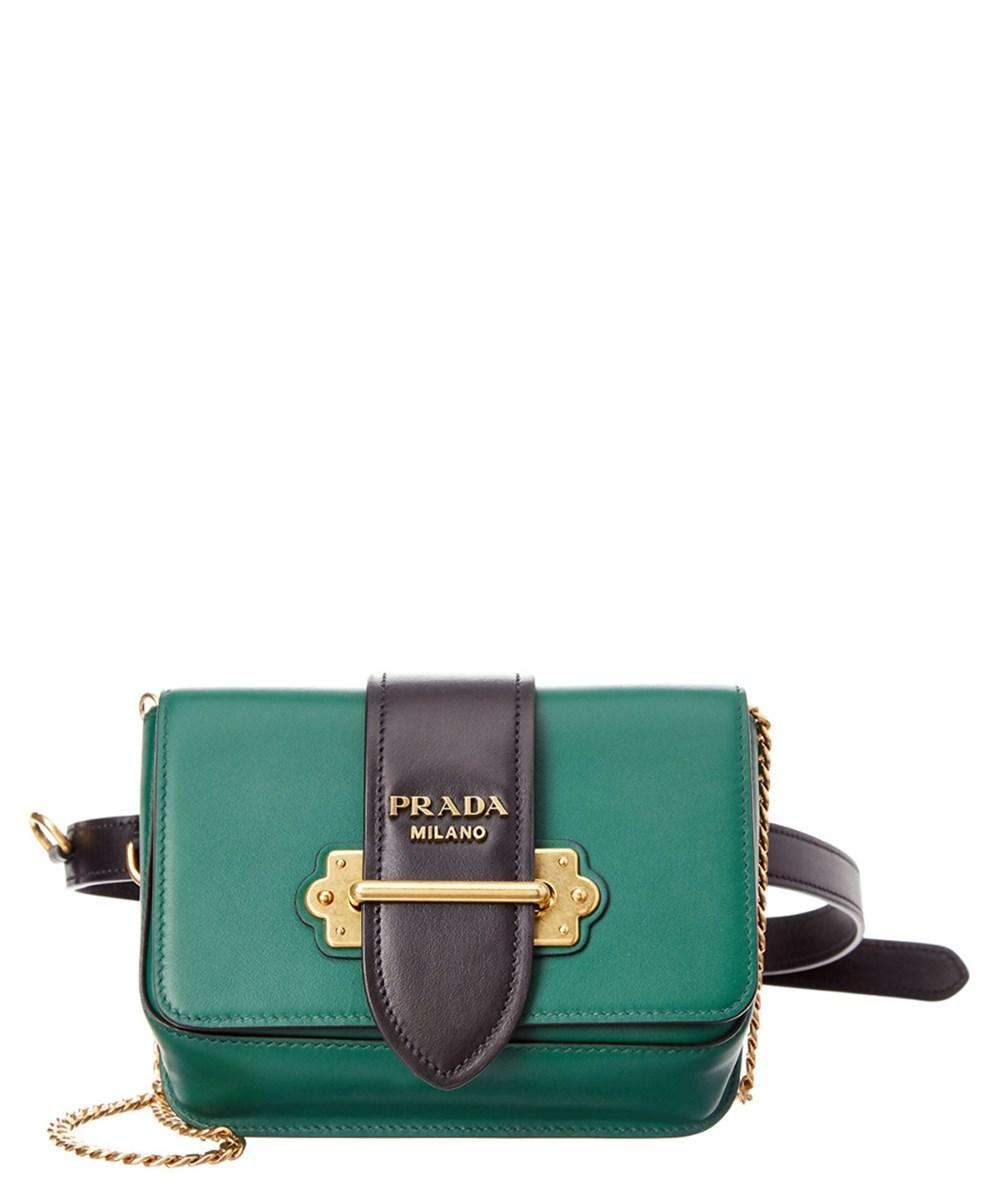 8d9579c59690 Prada Cahier Calf Leather Belt Bag In Black Multi