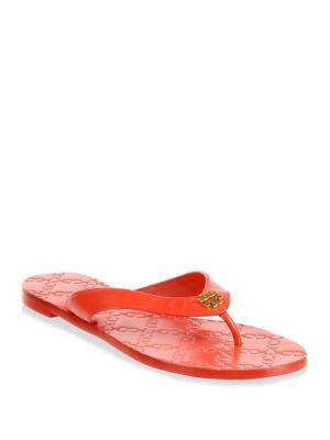 283102e1237b Tory Burch Monroe Leather Thong Sandals In Exotic Red