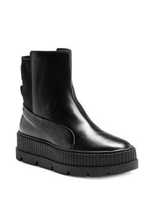 44d67337f6de PUMA Women s Fenty X Rihanna Chelsea Sneaker Boot From Finish Line in Puma  Black. Puma Women