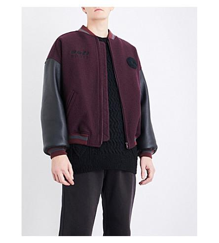 5d7518450 Season 5 Cali Wool And Leather Bomber Jacket in Pink