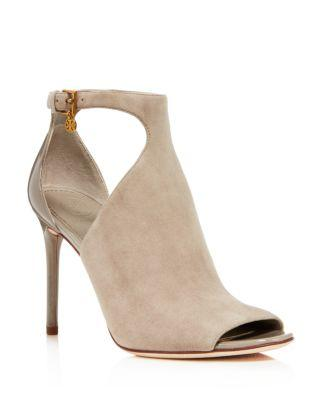 c29e312e0 Tory Burch Women s Ashton Suede   Patent Leather Booties In Duststorm  Dust  Storm