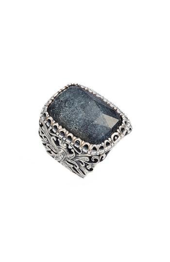 Konstantino Santorini Hematite Ring In Silver/ Hematite